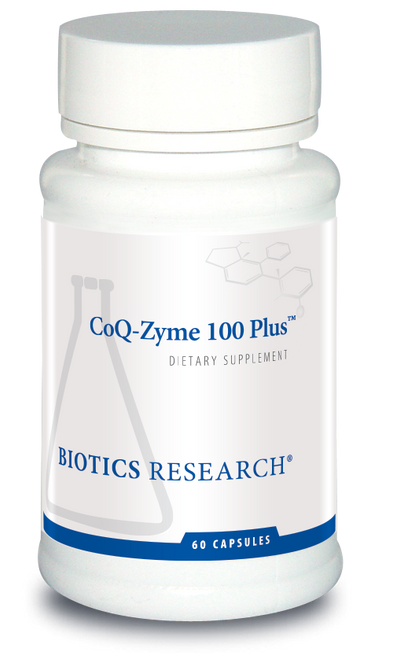 "Biotics --- ""CoQ-Zyme 100 Plus"" --- CoQ10 with B-Complex - 60 Caps"