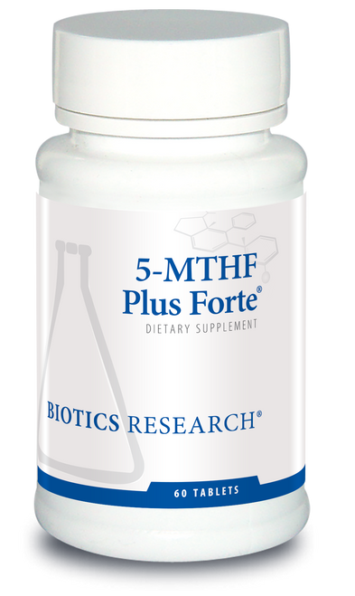 "Biotics   --- ""5-MTHF Plus Forte""  --- High BioAvailable Folate & B12 - 60 Tabs"