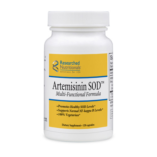 "Researched Nutritionals  ---  "" Artemisinin SOD"" --- Anti-Parasitic Formula - 120 Caps (GMO Free)"