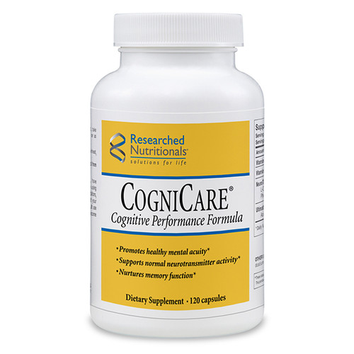 """Researched Nutritionals ---  """"CogniCare"""" --- Mental Clarity & Focus - 120 Caps"""