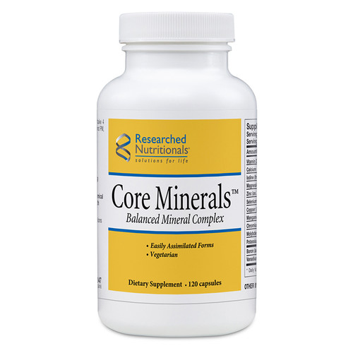 "Researched Nutritionals  --- ""Core Minerals"" --- Iron Free Highly BioActive Minerals  - 120 Caps"