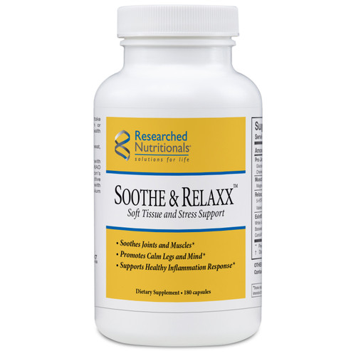 "Researched Nutritionals --- ""Soothe & Relaxx"" --- Muscle, Joint & Leg Relaxation - 180 Caps"