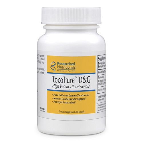 "Researched Nutritionals --- ""TocoPure D&G"" --- Best of Vitamin E - 60 Softgel (GMO Free)s"