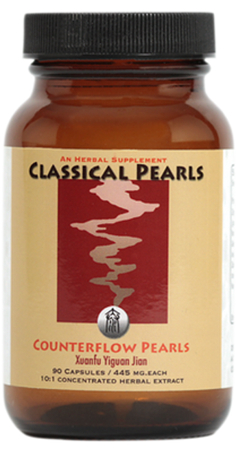"""Classical Pearls ---  """"Counterflow Pearls"""" --- Reflux, Belching & Hiccups TCM Support Formula - 90 Caps"""
