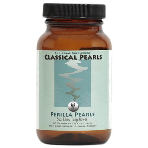 "Classical Pearls --- ""Perilla Pearls"" --- TCM Cough & Sore Throat  Support Formula - 90 Veggie Caps"
