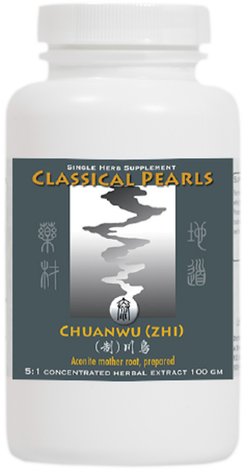 "Classical Pearls --- ""CHUANWU (ZHI)"" --- TCM Aconite Mother Root - 100 Servings"
