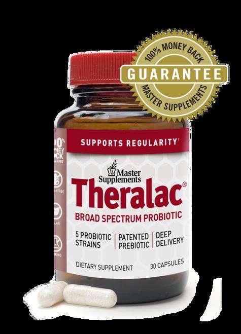 """Master Supplements  ---  """" Theralac"""" --  Full Spectrum Probiotic - 30 Billion CFU - 30 Caps"""
