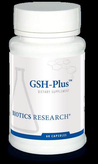 """BIOTICS  ---  """" GSH-PLUS™""""  --- Glutathione Detoxing - 60 Caps"""