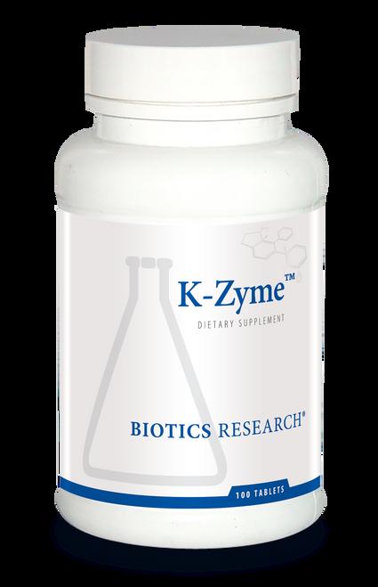 "BIOTICS  ---  ""K-ZYME™""  ---  Highly Bio-Available Potassium - 100 Tabs"