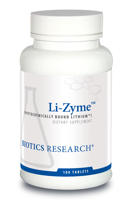 "BIOTICS  ---  ""Li-Zyme™ ""  --- Anxiety & Mood Support - 100 Tabs"