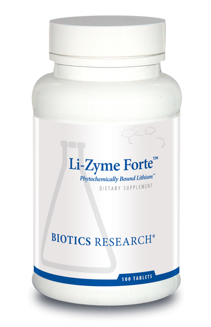 "BIOTICS  ---  ""Li-Zyme Forte™ ""  --- Anxiety & Mood Support - 100 Tabs"