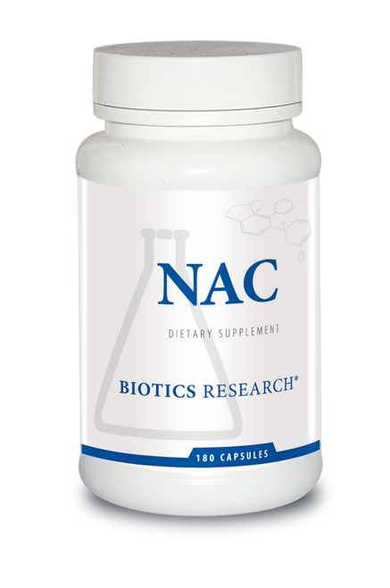 "BIOTICS  ---  ""NAC"" --  Key Detoxing Nutrient - 180 Caps"