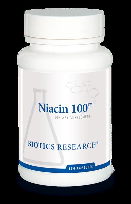 "BIOTICS   ---   ""NIACIN 100™"" ---   Triglyceride & Lipid Support - 150 Caps"