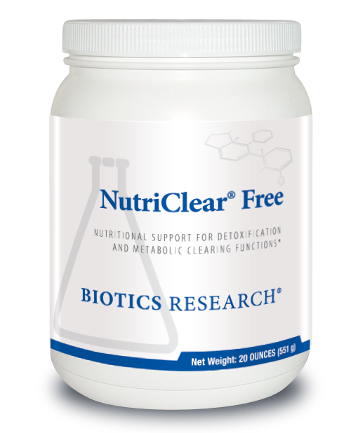 "BIOTICS   ---  ""NutriClear® Free ""  ---  Detoxification & Metabolic Support Nutrient Smoothie Component - 20 Serving"