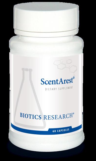 """BIOTICS   ---   """"ScentArest""""   ---   Multiple Chemical Sensitivity Fumes Blockade  - 60 Caps"""