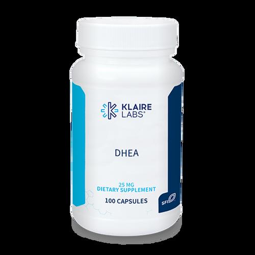 """KLAIRE   --- """" DHEA 25 mg"""" - Adrenal Hormone Support - 100 Caps"""