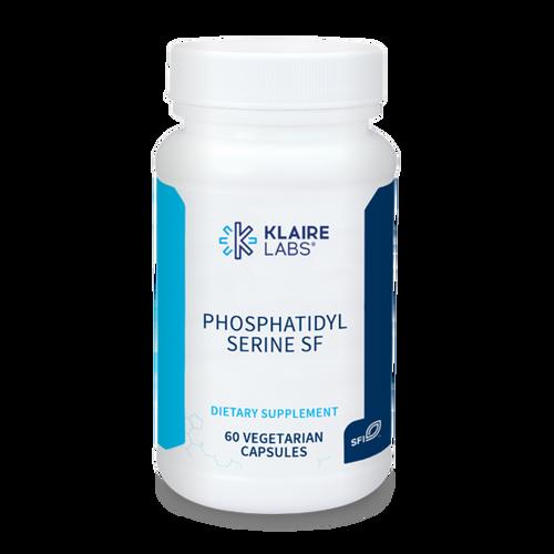 "KLAIRE --- ""Phosphatidyl Serine SF"" -- Sunflower (Soy Free) Derived Brain & Nerve Support - 60 Caps"