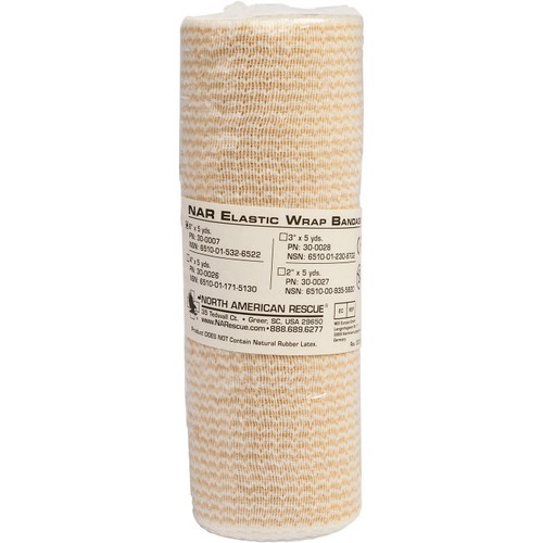 "NAR "" ELASTIC WRAP BANDAGES"" - 6"" Wide x 5 Yards Long"