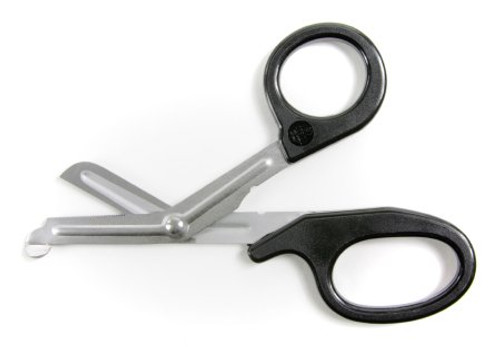 "McKesson - ""Utility Scissors"" -  7-1/4 Inch Length Medical Grade Stainless Steel / Plastic Non-Sterile Finger Ring Handle Angled Blunt Tip - One Pair"