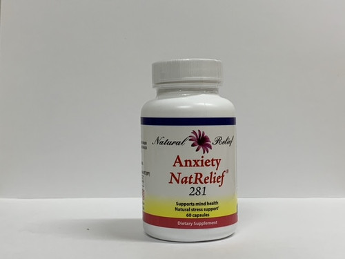 """Natural Relief  --- """"Anxiety NatRelief"""" - Anxiety Aid - 60 Caps"""