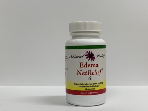 """Natural Relief --- """"Edema NatRelief"""" - Natural Aid for Extremity Swelling - 60 Caps"""