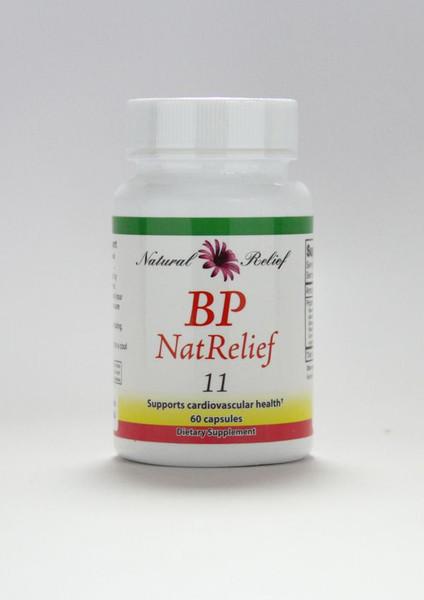 "Natural Relief ""BP NatRelief"" --- Blood Pressure Reducing Herbal Support Formula - 60 Caps"