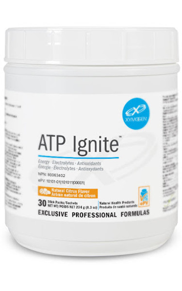 "Xymogen  ---  ""ATP Ignite™"" Citrus  ---  On The Go Energy  - 30 Servings"