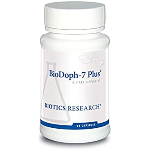 """Biotics --- """"BioDoph-7 Plus"""" --- Comprehensive Prebiotic & Probiotic  Support- 60 Caps"""
