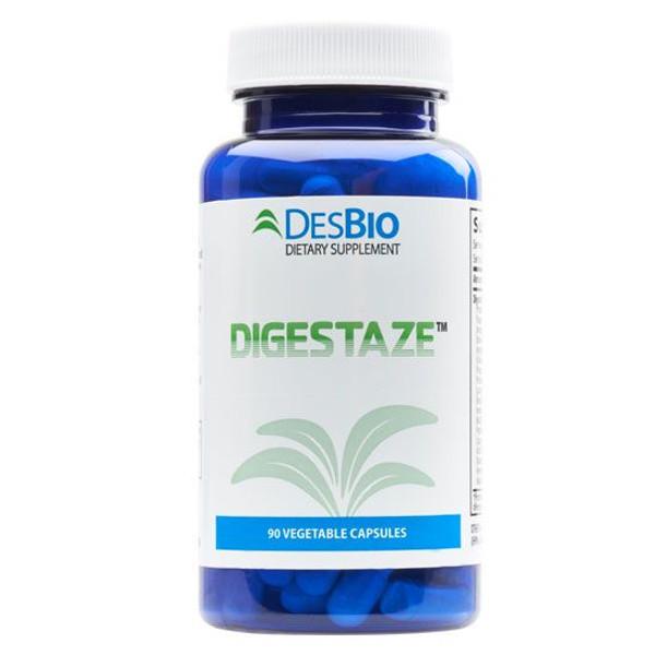 "DesBio --- ""Digestaze"" - Broad Spectrum Vegetarian-Sourced Digestive Enzyme Combination - 90 Caps"