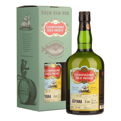 Compagnie des Indes Rum Guyana 8 years 43% 700ml