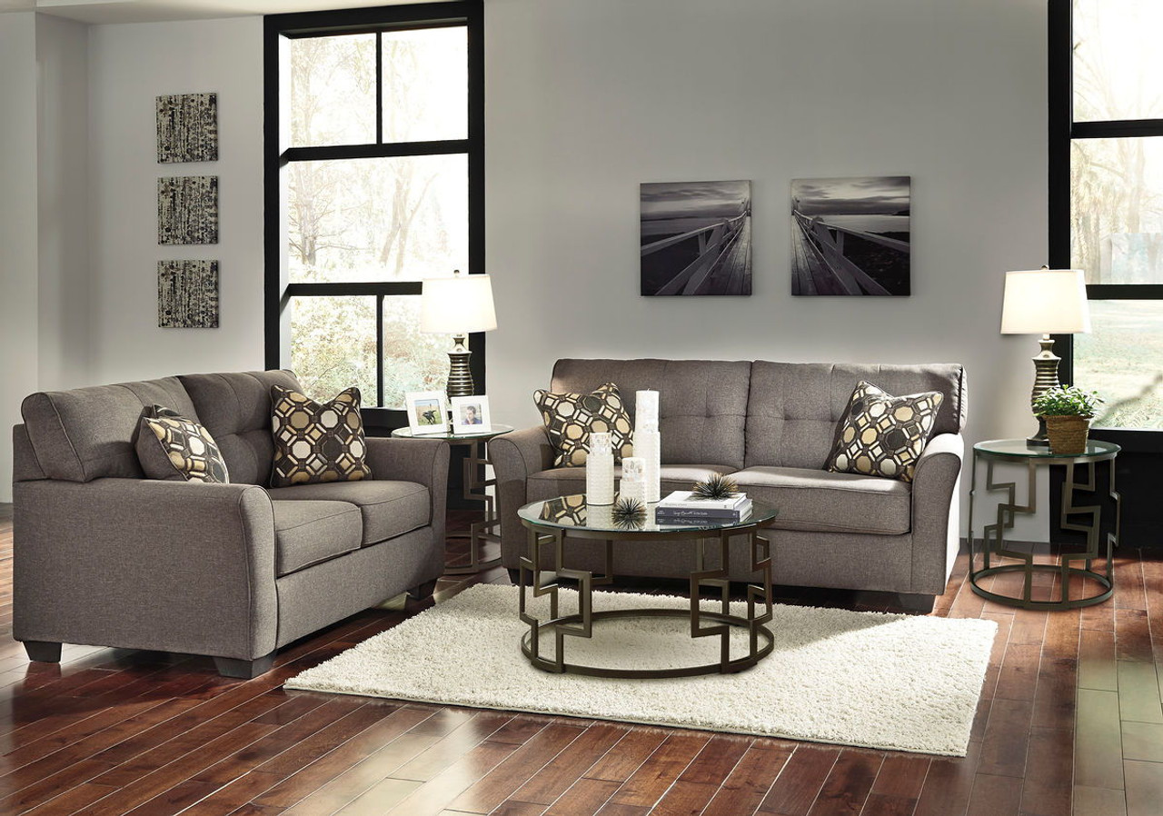 Remarkable Ashley Tibbee Slate Sofa Loveseat Frostine Table Set Gmtry Best Dining Table And Chair Ideas Images Gmtryco