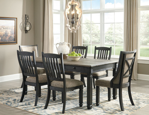 591d03eac422 Ashley Tyler Creek Black/Gray 7 Pc. Rectangular Dining Room Table, 4  Upholstered Side Chairs & 2 Dining Room Upholstered Side Chairs