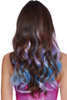 pink hair extensions, pink and blue hair extensions