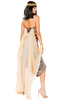 Cleopatra costume with leopard print and drape