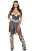 Shop women's sexy 3 Piece Indian Beauty costume. Includes Corset with Fur & Fringe, Fringe Shorts with Attached Flap, & Headband.