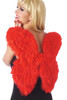Red feather wings, red angel wings