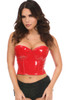 red PVC bustier, red vinyl bustier, red latex bustier