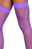 Banded Purple Fishnet Thigh Highs