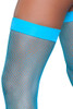 Banded Turquoise Fishnet Thigh Highs