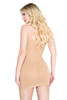Beige Form Fitting Strapless Dress