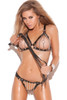 bdsm lingerie, leather and chain bra
