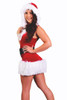 Shop this women's flirty red Santa dress with attached hood