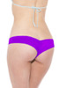 Purple Lamé Ruched Micro Booty Shorts
