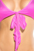 Bow Front Top - Neon Pink