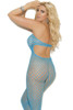Neon Blue Pinup Crotchless Bodystocking