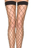 Black Diamond Net Stockings with Wide Bands