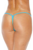 Scrunch Front Thong Bottom - Turquoise