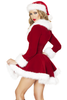 Shop this women's red velvet Christmas Jacket with white fur detail and lace up front.