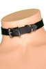 leather choker with D ring