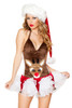 Shop Christmas themed Rudolph cuddle romper J Valentine with brown velvet romper and rudolph face